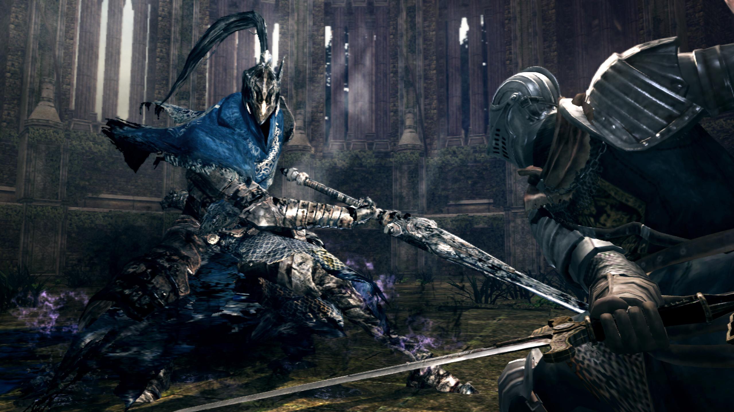 Dark Souls Knight Artorias boss intro