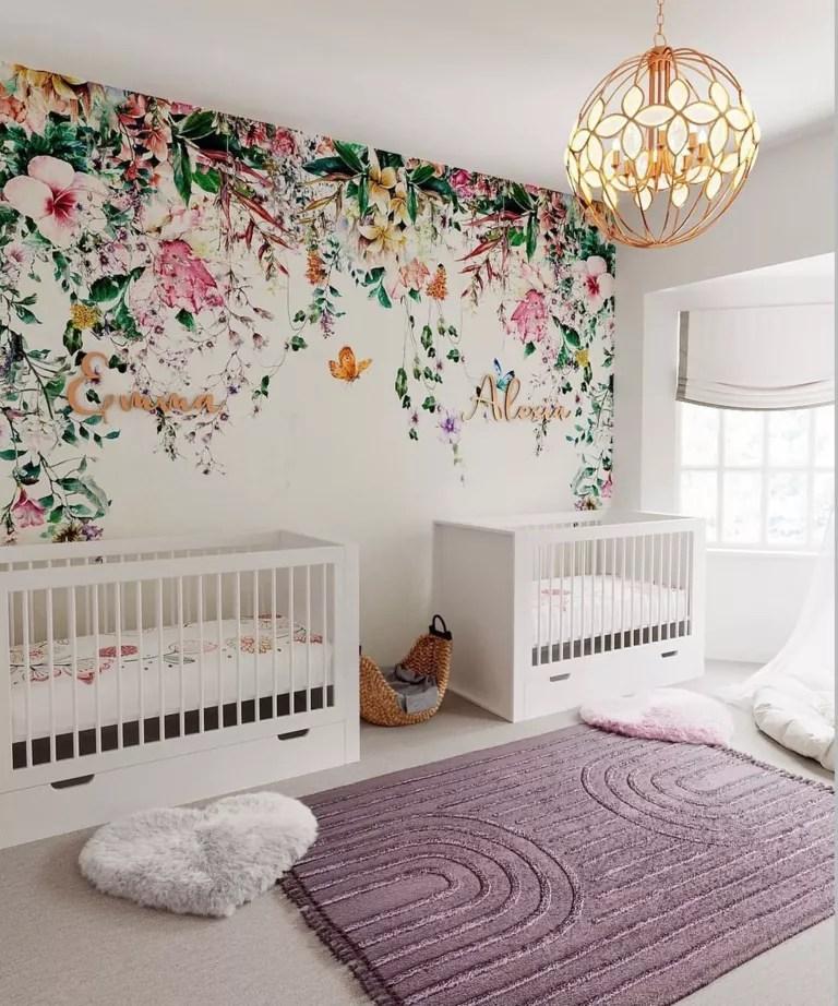 Twin girl nursery design by Little Guy Comfort