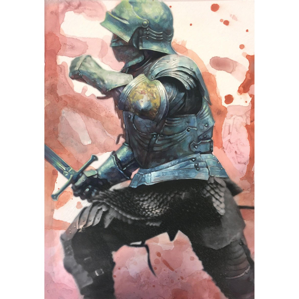 Painting of a knight