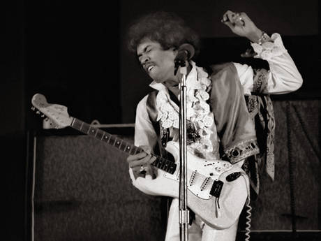 Jimi Makes Love To His Guitar...