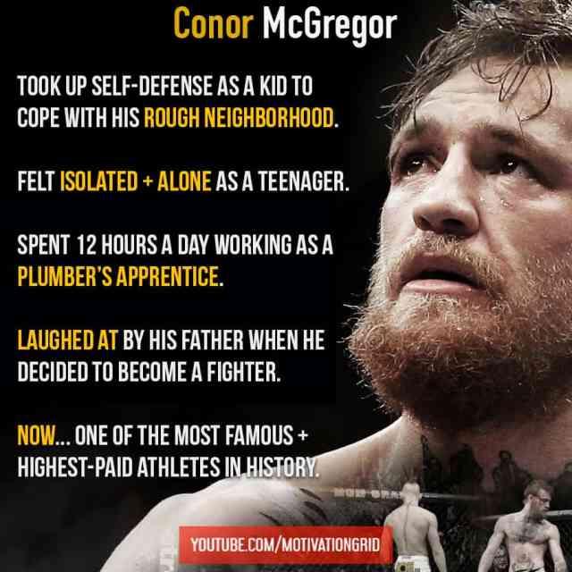 Conor McGregor story, Conor Mcgregor quotes