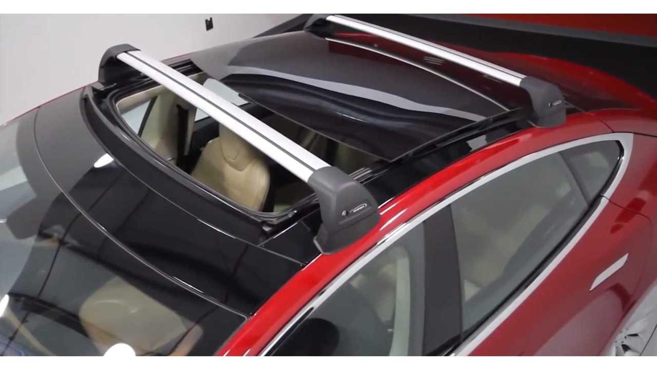 tesla model s roof rack install