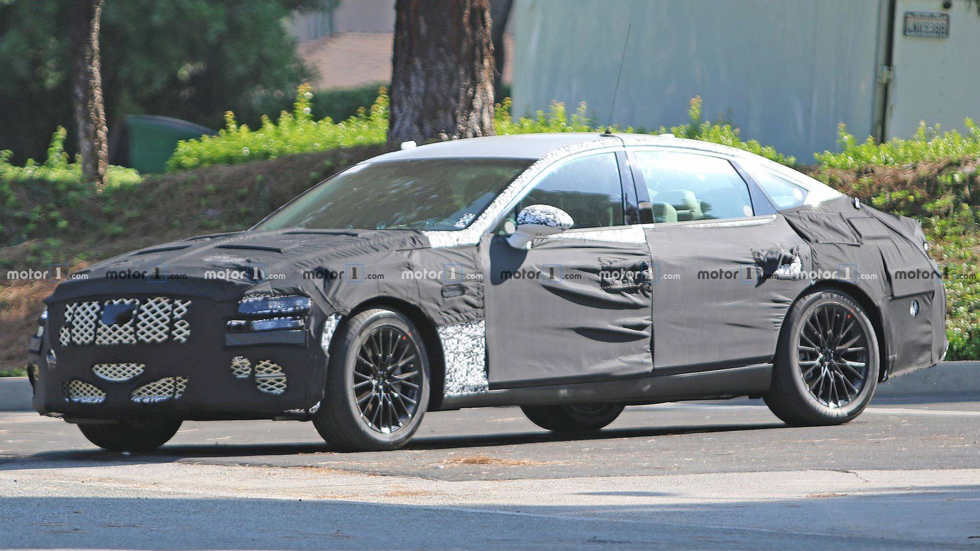 2020 Genesis G80 Spied Trying To Cover Up Sleeker Shape