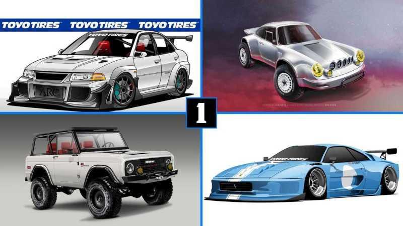 Toyo Tires SEMA Display Includes Lifted Porsche, Bonkers Ferrari 355
