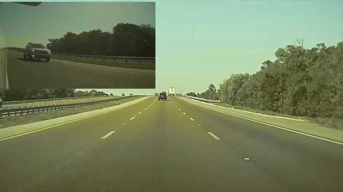 TeslaCam Road Rage Video In Florida Will Raise Discussions About Left Lane Use