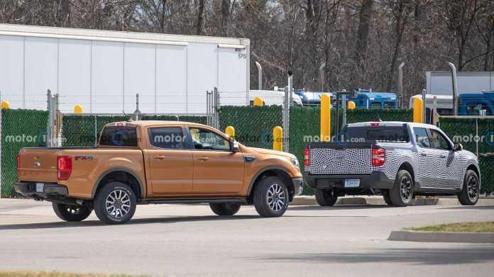 Ford Maverick 2022 - Caught next to the Ranger