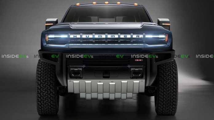 Hummer EV Truck Render With Extended Skidplate