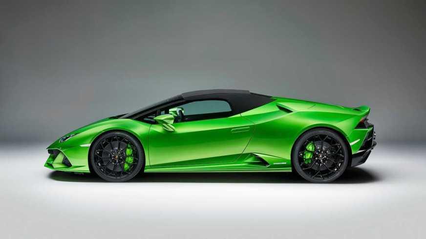 Lamborghini Huracan Evo Spyder debuts its folding roof in ...