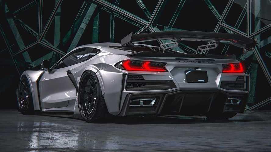 2020 Chevy Corvette Widebody Rendering By Hugosilva