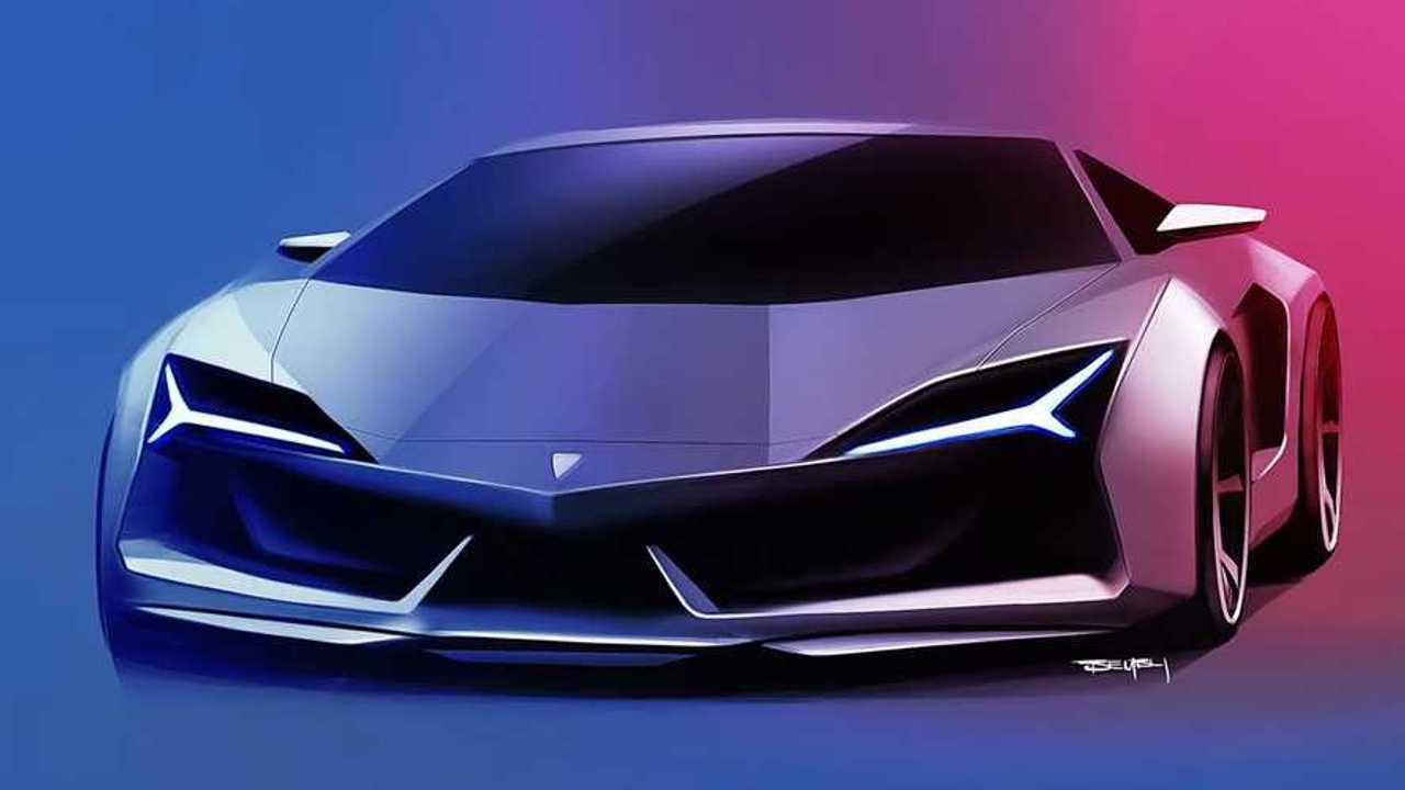 Lambo Aventador Successor Rendering Proposes Evolutionary