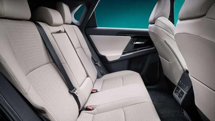 Toyota bZ4X Concept rear seats