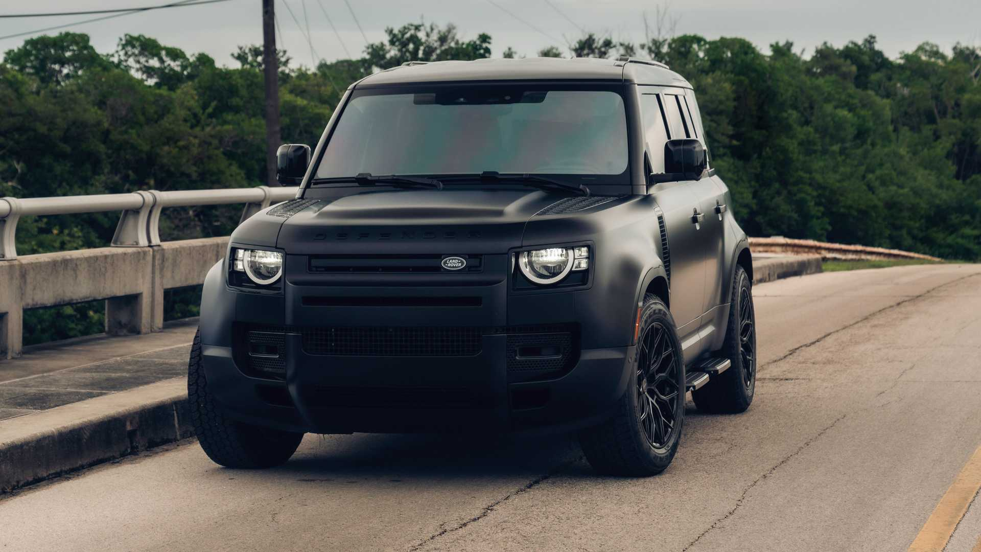 land rover defender murdered out with