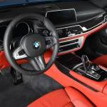 Bmw M760li Santorini Blue With Red Interior Catches The Attention