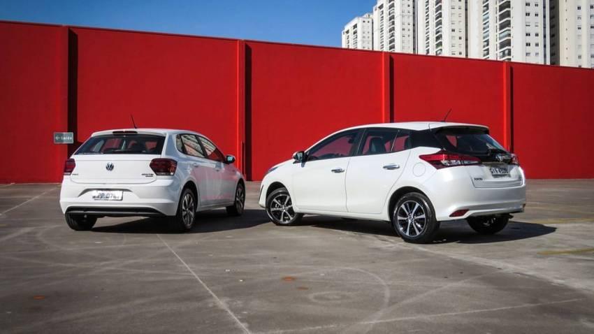 Comparativo Toyota Yaris x VW Polo