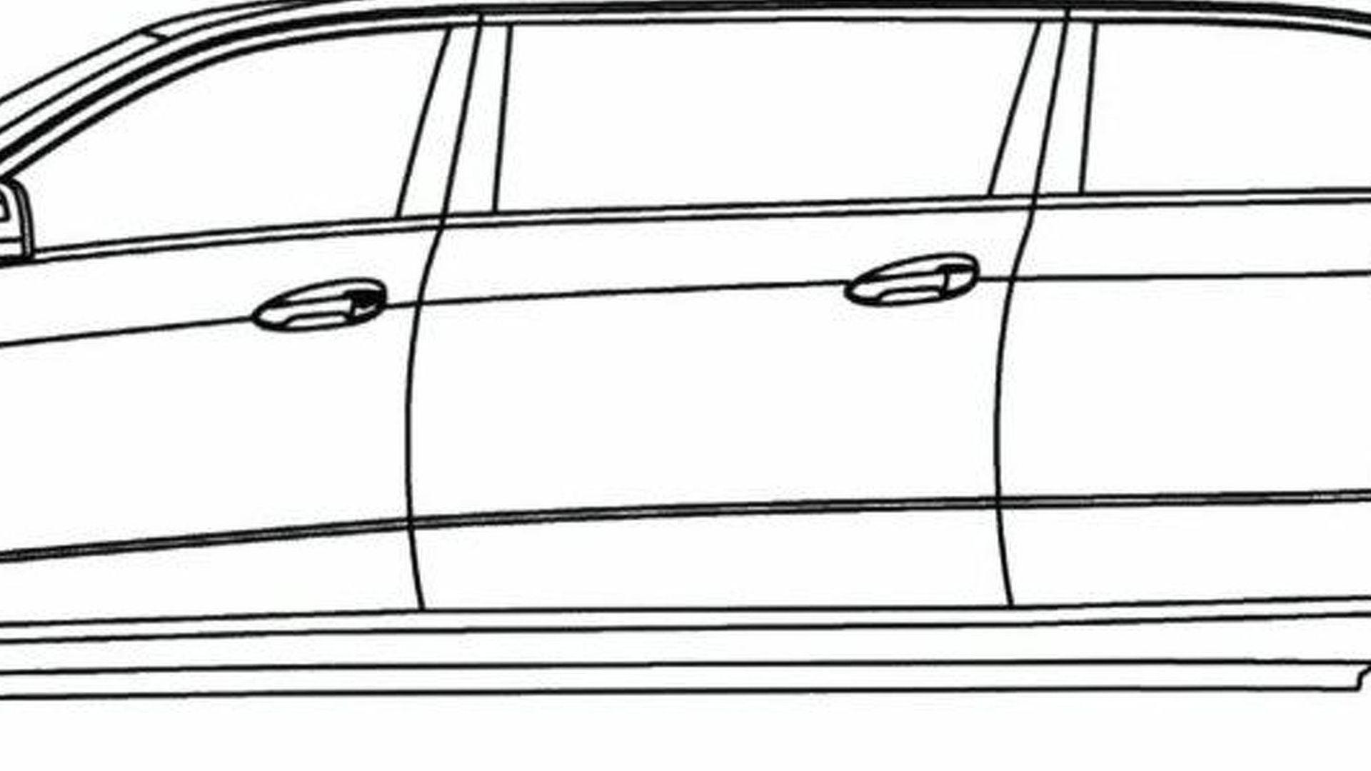 Mercedes E Class Limo Sketches Surface