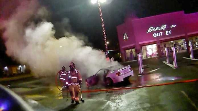 Fire At The Seaside Outlet Mall Tesla Supercharger Was Caused By ICE Car