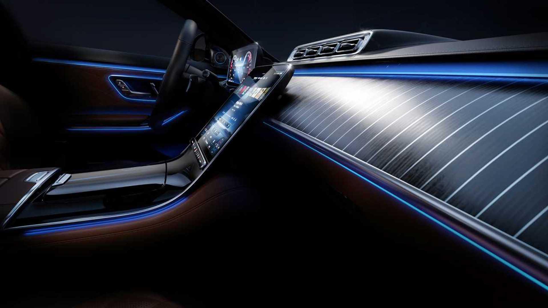 2021 mercedes s class interior shines