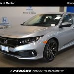 2020 New Honda Civic Sedan Sport Cvt At Honda Of Mentor Serving Cleveland Euclid Mentor Oh Iid 20330359