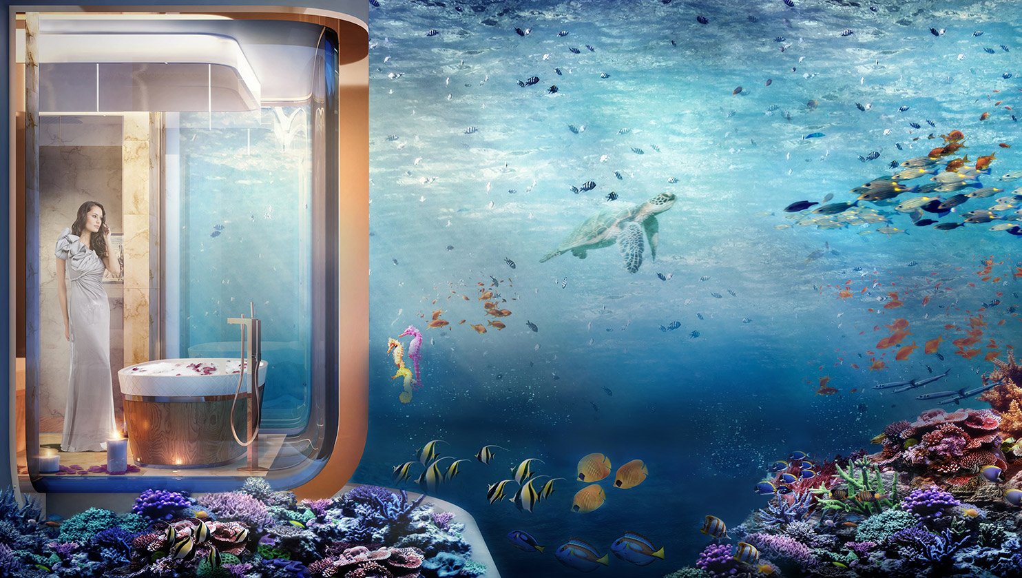 Dubais First Floating Underwater Apartments MRGOODLIFE