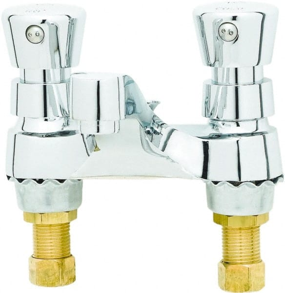 t s brass push button handle deck mounted bathroom faucet 32072381 msc industrial supply