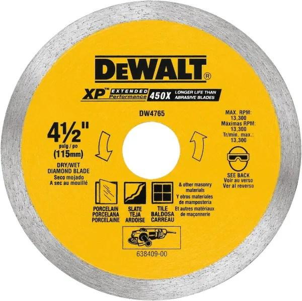 dewalt 4 1 2 diam 5 8 7 8 arbor hole diam wet dry cut saw blade 93122018 msc industrial supply
