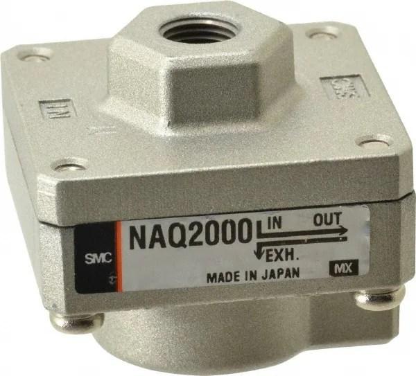 smc pneumatics 1 8 nptf quick exhaust valve 80164700 msc industrial supply