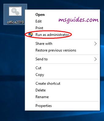 run batch file as admin