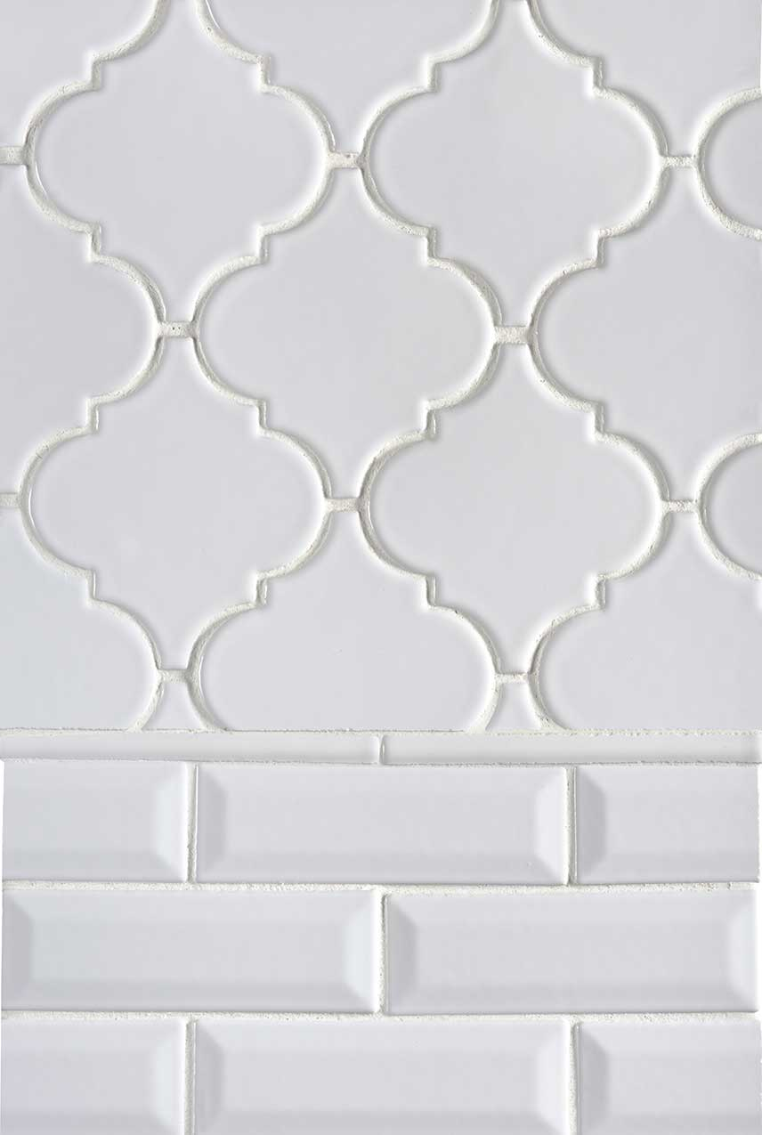 whisper white arabesque subway backsplash tile msi