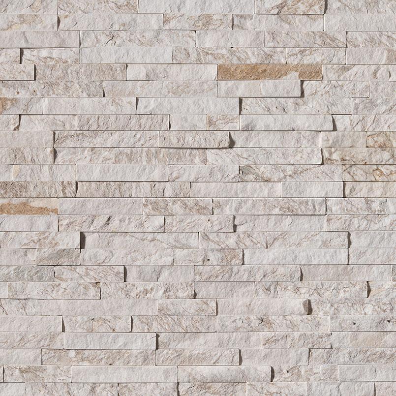 msi stacked stone royal white stacked