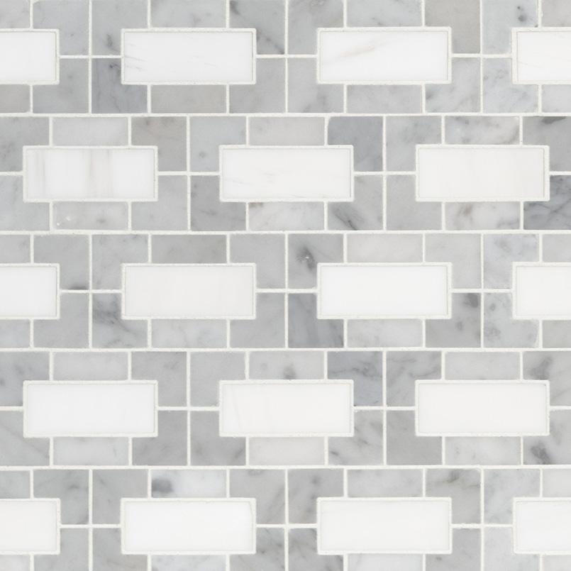bianco dolomite geometrica porcelain tile backsplash tile