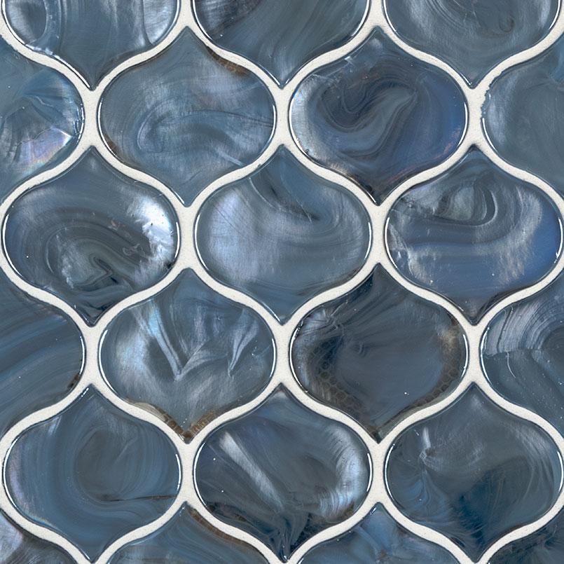 blue shimmer arabesque subway tile glass mosaics subway tile