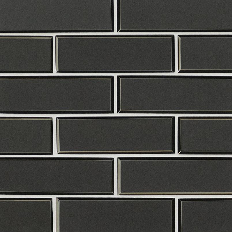 metallic gray bevel subway tile backsplash tile subway tile