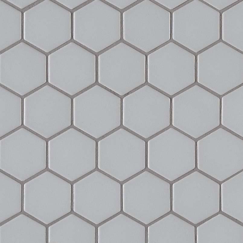 retro hexo gray matte glass blend tile backsplash wall tile