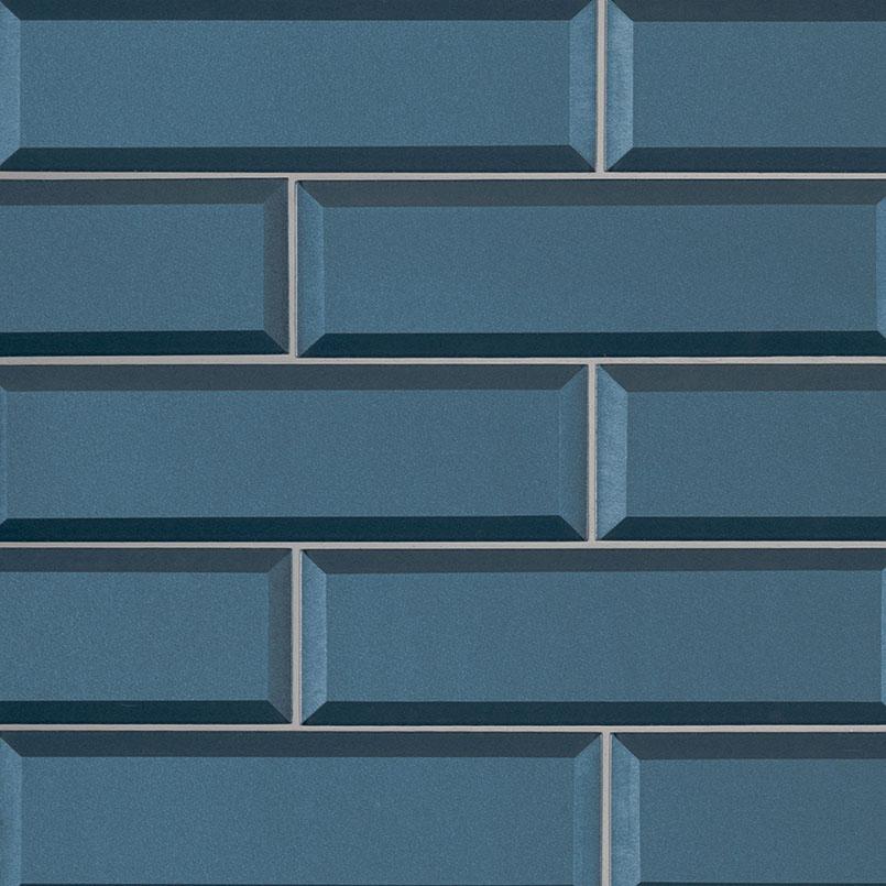 tahiti blue subway tile beveled subway tile collection