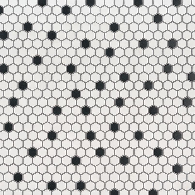 black and white hexagon matte wall tile hexagon backsplash tile