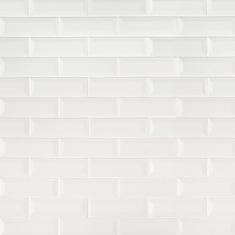 whisper white beveled subway tile backsplash tile white tile
