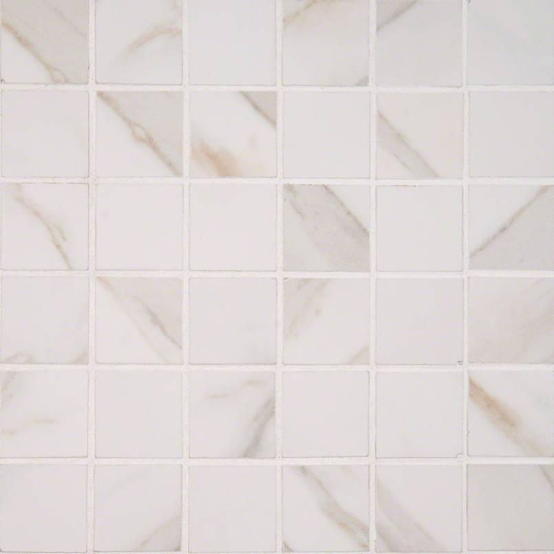 calacatta 2x2 mosaic porcelain tile