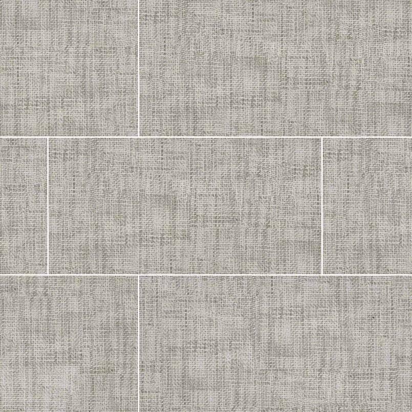 crosshatch gray porcelain tile