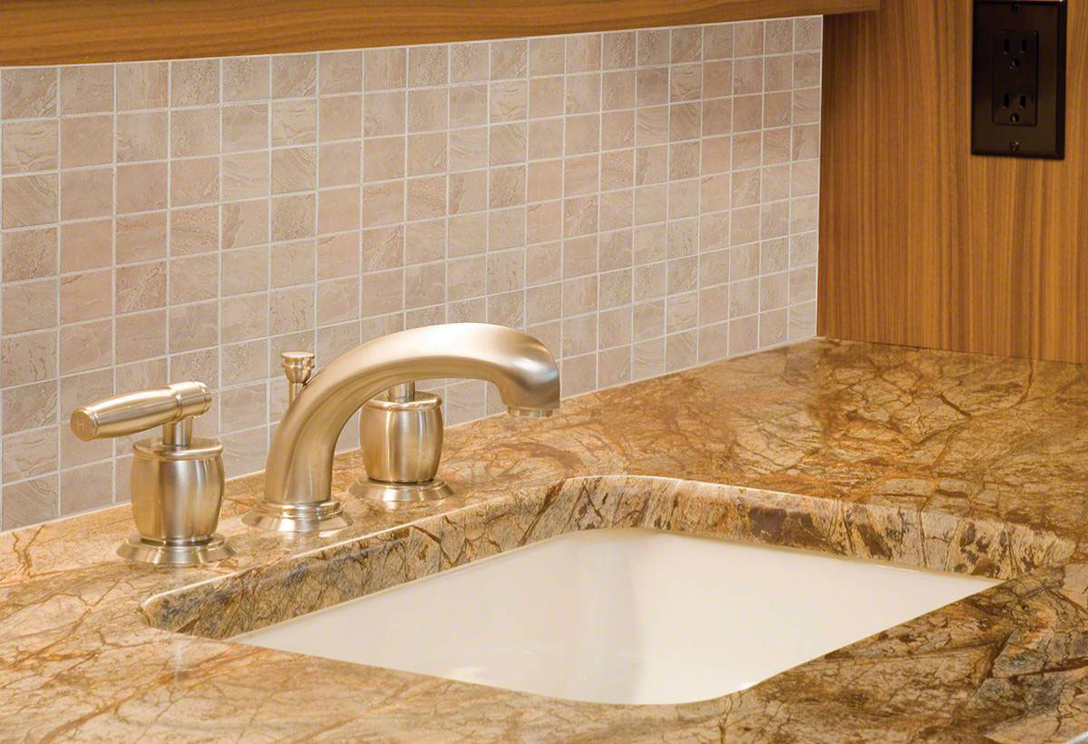 onyx sand 2x2 porcelain backsplash tile