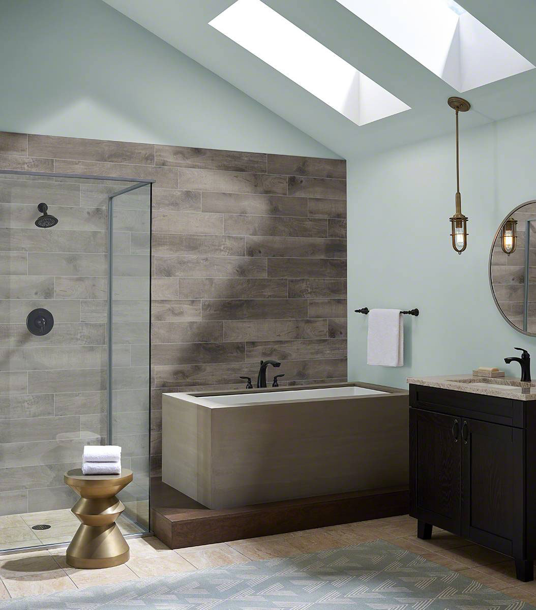 country river stone wood look tile