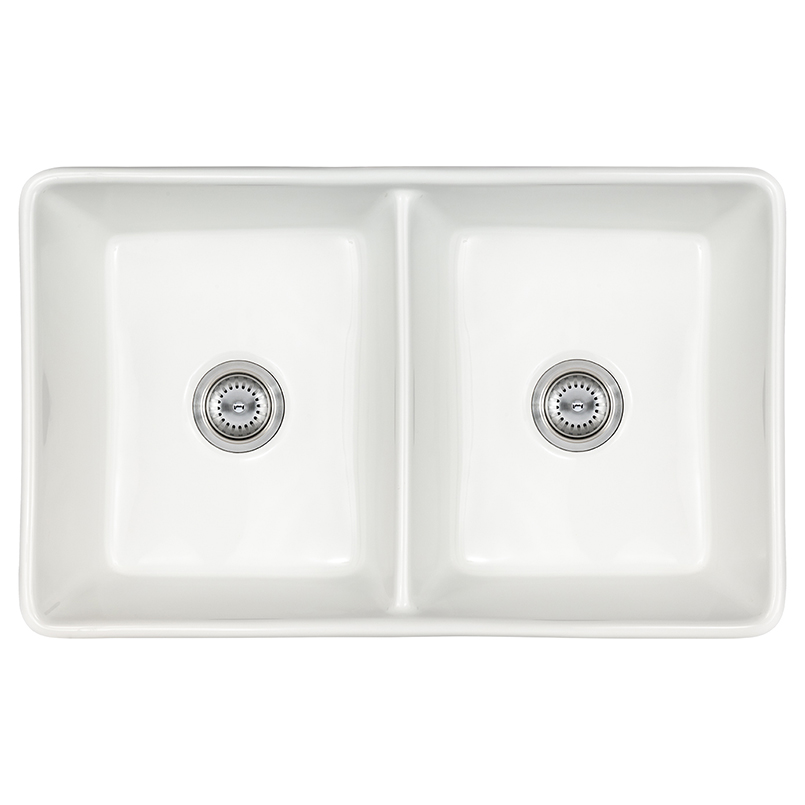 kitchen sinks fireclay farmhouse white double bowl 5050 3220
