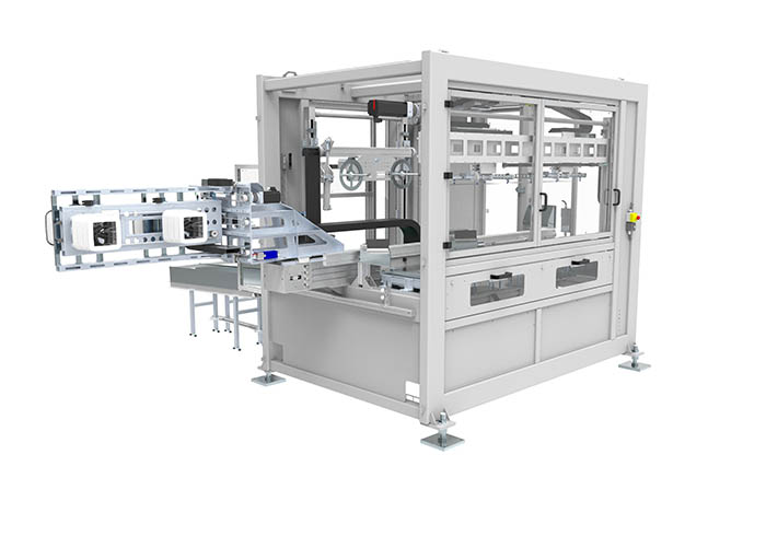 IML Basic dos cavidades, Beck, Beck automation, iml, in mould labeling