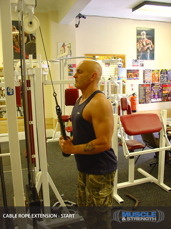 Cable Tricep Extension With Rope Video Exercise Guide Amp Tips