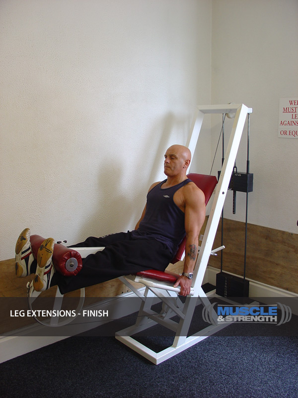 Leg Extension Video Exercise Guide Amp Tips Muscle Amp Strength