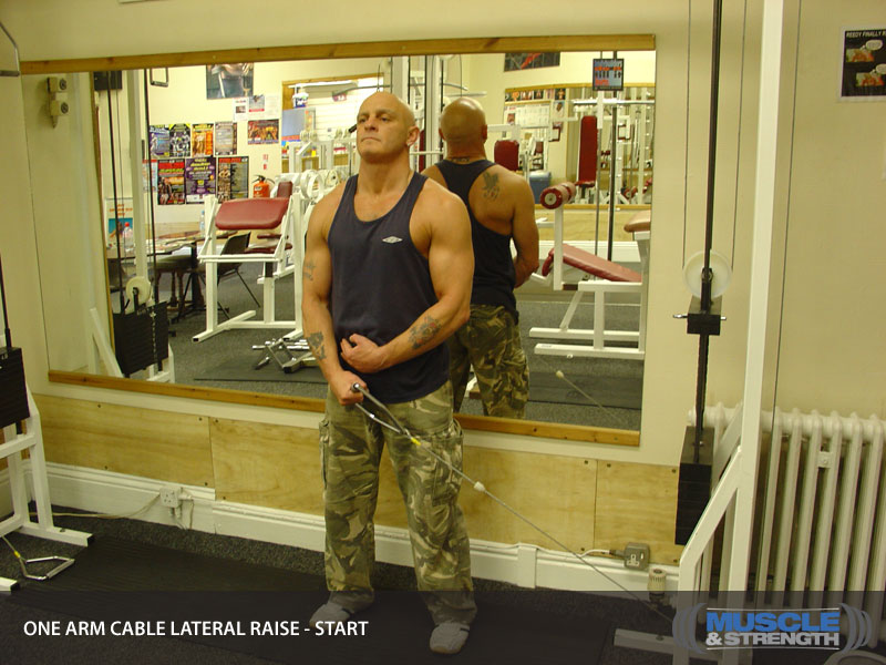 One Arm Cable Lateral Raise Video Exercise Guide Amp Tips