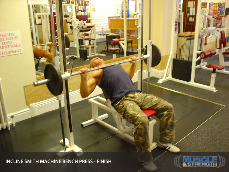 Incline Smith Machine Bench Press Video Exercise Guide