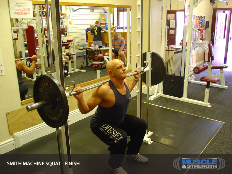 Smith Machine Squat Video Exercise Guide Amp Tips