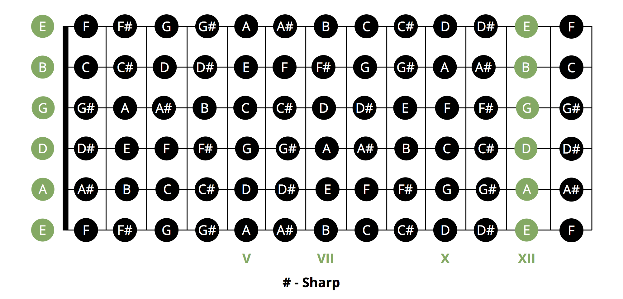 Most Popular Beginner Guitar Chords Chart