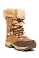 St. Moritz 200 II Faux Fur Trim Boot - BROWN-CREA