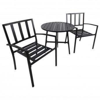 ensemble de table et chaises de jardin bistro metal noir mycocooning